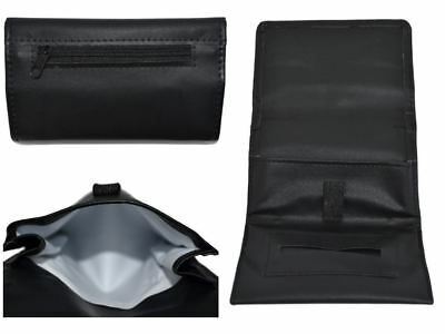 Leather Tobacco Magnetic Pouch Soft PU Fully Lined Black Colour Great Quality UK • 4.49£