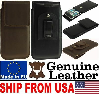$ CDN18.40 • Buy # Chic Flap Real Genuine Leather Belt Clip Case Cover Pouch - Range Of Models