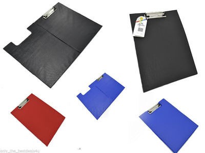 A4 Clipboard Solid Single Fold-Over New Office Document Holder Filing Clip Board • 1.99£