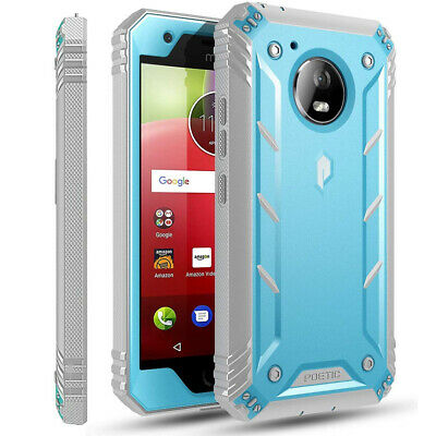 AU16.30 • Buy Motorola Moto E4 Case,Poetic® [Dual Layer] Shockproof Hard Shell Cover