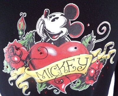 Authentic Original Walt Disney Womens Ed Hardy Style Mickey Mouse Hoodie Size S  • 19.84£