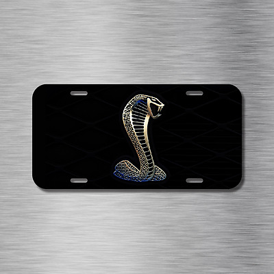 Mustang Cobra Vehicle Front License Plate Auto Car NEW Gt Hatchback Coupe • 14.99$