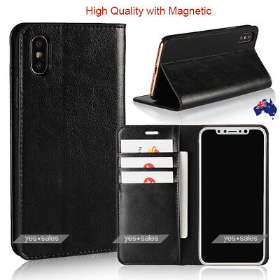 AU13.85 • Buy MUSUBO Leather Wallet Card Holder Stand Flip Case Cover For IPhone Xs Max Xs 8 P