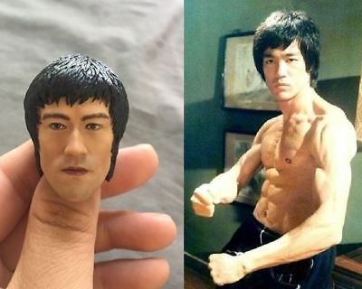 $30.95 • Buy Custom Bruce Lee 1/6 Head Sculpt For Hot Toys Enterbay Body Game Of Death
