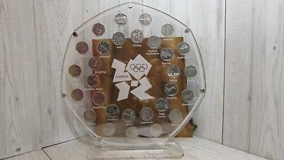 50 Pence London 2012 Olympic Coin Set  Display Stand Frame Sports Collection  • 60£