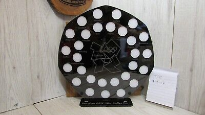 50p Pence Coin Frame Black Royal Mint Stand Olympic 2012 50p Display Holder  • 55£