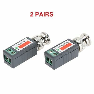$ CDN9.99 • Buy 2 Pairs 4 Pcs Passive Video Balun BNC To UTP Cable Connector CCTV Camera DVR Mtl