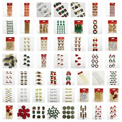 Handcrafted Christmas Decorations - Handmade Card Making Embellishment Crafts • 1.85£