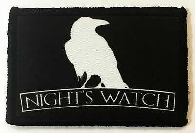 $7.99 • Buy Game Of Thrones Nights Watch Morale Patch Tactical Military Army Badge Army USA