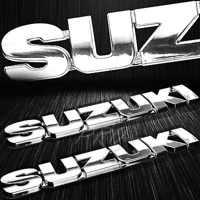 $16.88 • Buy X2 6  3D Chromed 4mm Thick Emblem Decal Fairing/Fender Sticker GSXR Suzuki Logo