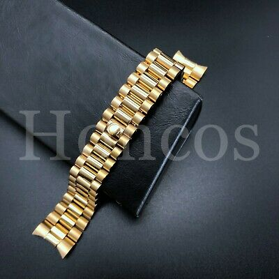 $ CDN26.74 • Buy President Yellow Gold Watch Band Bracelet For Rolex Datejust 20mm Stainless St
