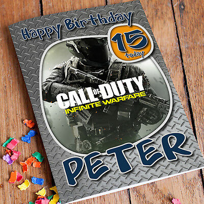 £2.85 • Buy Call Of Duty Personalised Birthday Card Son Dad Father PS4 Boys Any Name