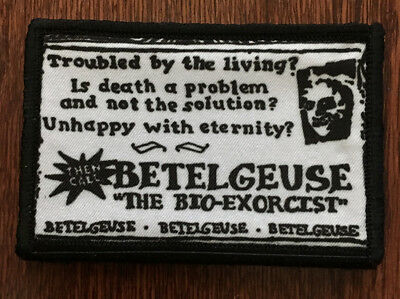 $7.99 • Buy BeetleJuice Business Card Morale Patch Tactical Military Army Badge Flag