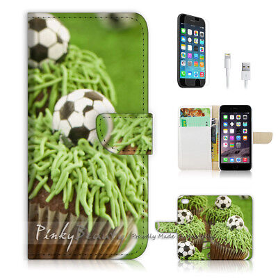 £7.06 • Buy ( For IPhone 8 ) Wallet Case Cover P1390 Football Cup Cake