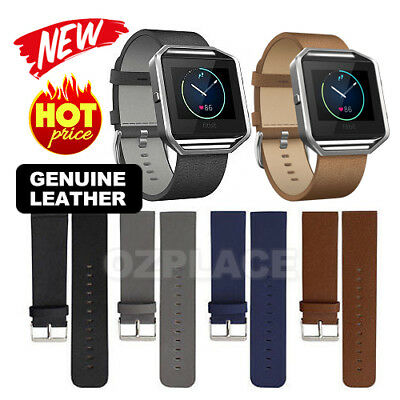 AU8.95 • Buy Genuine Leather Watch Band Wrist Replacement Strap For Fitbit Blaze Smart Watch