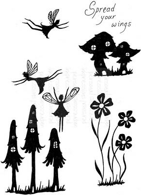Fairy Mushrooms Clear Stamp Set  A6  Toadstool House Flower Fairies Sweet Dixie  • 4.80£