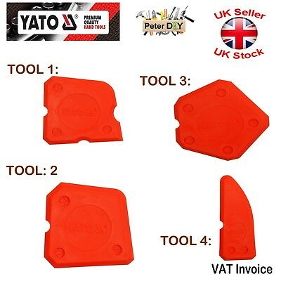 Yato Silicone Sealant Spreader Profile Applicator Tile Tool Kit YT-5261 Packs • 6.65£