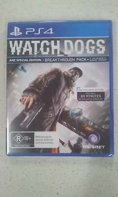 AU24.99 • Buy Watch Dogs ANZ Special Edition PS4 Game  (NEW & SEALED)