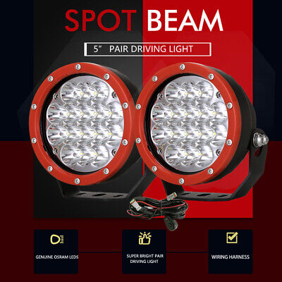 AU68.96 • Buy Pair 5inch OSRAM LED Driving Work Lights Spotlights Lamp Offroad 4x4 Black Round