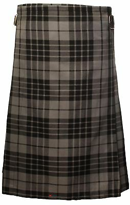 £54.99 • Buy Gents Lightweight Casual Party Kilt Granite Grey Size 28 30
