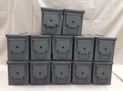 $169.95 • Buy 12 PACK 50 Cal M2A1 AMMO CAN REFURBISHED GREAT CONDITION