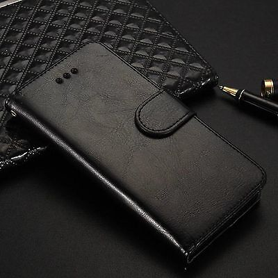 AU14.23 • Buy Black Leather Wallet Card Holder Flip Stand Case For IPhone 8 Plus IPhone 8