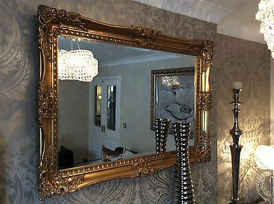 £189.99 • Buy X Large Antique Gold Ornate Decorative Mirror  - Choice Of Size & Colour - NEW