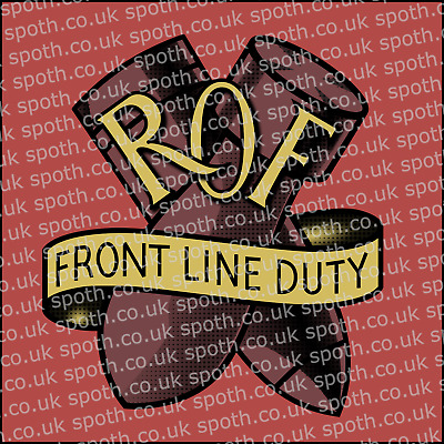 £7.99 • Buy WW2 Royal Ordnance Factory ROF Decal For Sparkproof Brodie Helmet (reproduction)