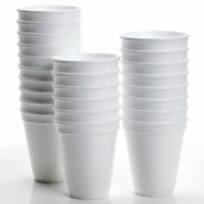 200 X Disposable Foam Cups Polystyrene Coffee Tea Cups For Hot Drinks 10 OZ New • 12.49£
