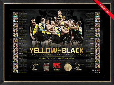 AU695 • Buy Yellow And Black Dual Signed 2017 Richmond Premiers Ltd Ed Lithograph