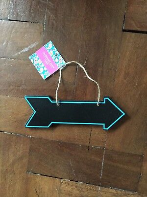 £3.95 • Buy Arrow Shape Chalkboard Sign -Blue Edge Rope Handle Price Directions