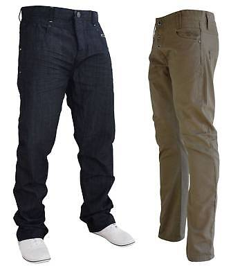 Mens CROSSHATCH Straight Leg Khaki Chinos Trousers Pants Jeans  Sizes 28-36 In • 11.99£