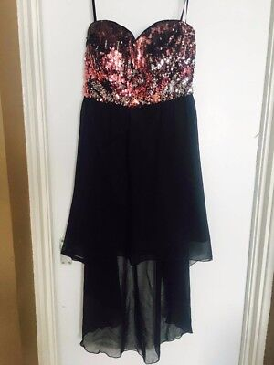 ChiChi High Low Sequined Dress Size 16 • 35£