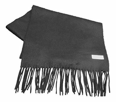 $55.58 • Buy Extra Long Cashmere/Angora Scarf In Black - 80% Cashmere