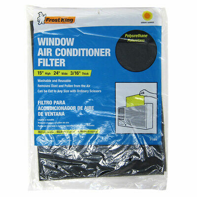 AU7.48 • Buy Frost King Window Replacement Air Conditioner Filter, Black, 15x24 Inches