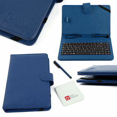 AZERTY Faux Leather Case With Micro USB Keyboard For Samsung Galaxy Note 10.1 • 16.99£