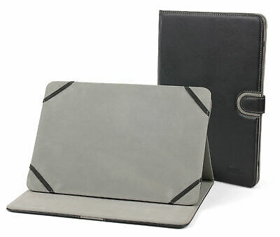 Executive Black Leather Cover For Hannspree HANNSpad Tablet With Rotating Stand • 15.99£