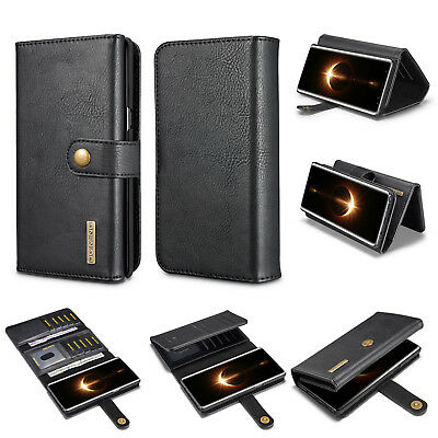 $ CDN19.45 • Buy DG.MING Genuine Cowhide Leather Folio Flip Wallet Case For Samsung Galaxy Note 8