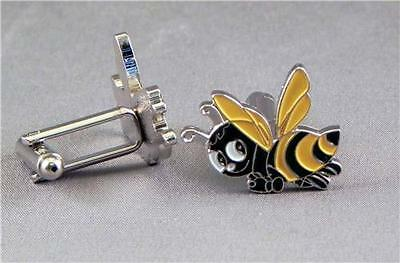 Cartoon Bee Cufflinks FOR WEDDING STAG NIGHT OR CHRISTMAS GIFT • 4.50£