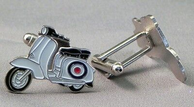 Mod Roundel Scooter Target Lambretta Cufflinks /WEDDING STAG NIGHT/ XMAS GIFT • 4.50£