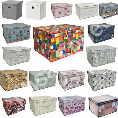 Large Jumbo Folding Collapsible Kids Toys Storage Box Chest Room Clothes Tidy • 9.89£