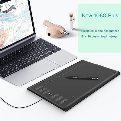 AU99.99 • Buy Huion New 1060Plus Graphic Drawing Tablet Art Pen Upgrade 8GB 12 HotKey AU Stock