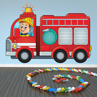 £17.52 • Buy Fire Engine Childrens Wall Decal Sticker WS-41199