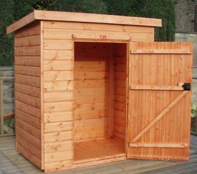 Pinelap 5x3 Wooden Tool Shed Fully T&G Garden Store 5FT X 3FT Outdoor Hut • 364£