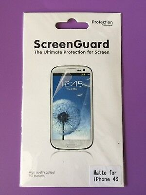 AU14.95 • Buy Screen Protector Matte For IPhone 4S  -  X5 Pieces