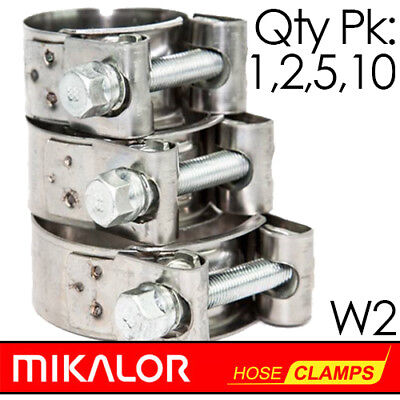 £0.99 • Buy Pack Of 1,2,5,10 | MIKALOR W2 | Stainless Steel | T Bolt Supra Hose Clip | Clamp
