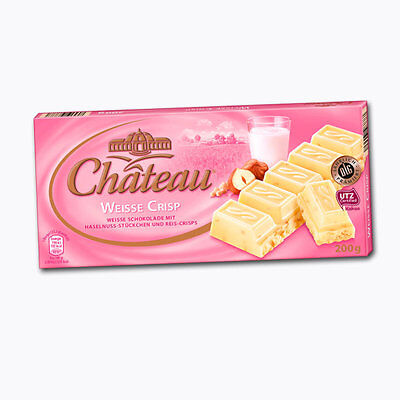 $ CDN24.17 • Buy 3 X 200g German Brand CHATEAU White Crisp Chocolate NEW From Germany