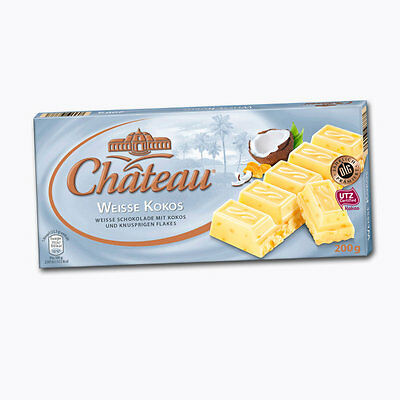 $ CDN25.33 • Buy 3 X 200g CHATEAU White Chocolate With Coconut NEW From Germany