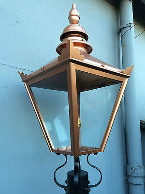 Lantern Copper Colour Light For Brackets & Lamp Posts Lamp Top Victorian Style L • 174.50£