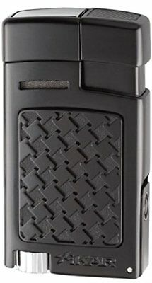 Xikar Black Houndstooth Forte Soft Flame Lighter With Cigar Punch 524BKH • 69.95£